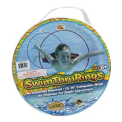 Water Sports Swim Thru Rings (3 Pack) - Pool Toys for Kids - Adjustable Floating Swim Thru Rings for All Day Fun, Basic pack (81055-7)