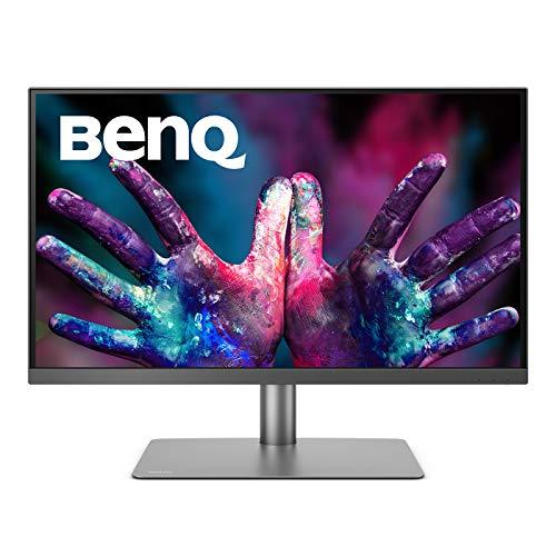 "BenQ PD2720U - Monitor Profesional para Diseñadores de 27"" 4K UHD (3840x2160, Thunderbolt 3, IPS, Display P3, CAD/CAM, Hotkey Puk, Daisy Chain, HDMI, DP, USB-C, Altura ajustable) - Negro /Gris"