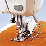 Máquina de coser multifunción de mango bajo, puntada plana a mano, puntada de ing, prensatelas, costura artesanal, costura de ropa, tela para coser (color: plata)