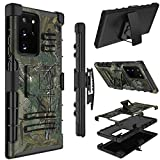 Yunerz Galaxy Note 20 Ultra Case, Holster Heavy Duty Shockproof Full-Body Protective Hybrid Case Cover with Swivel Belt Clip and Kickstand for Samsung Galaxy Note 20 Ultra 6.9inch (Natural)