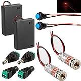 RUNCCI-YUN 2pcs 3V-5V 650nm 6mm 50nm Red Laser DOT Module Diode con Focus Regolabile Laser...