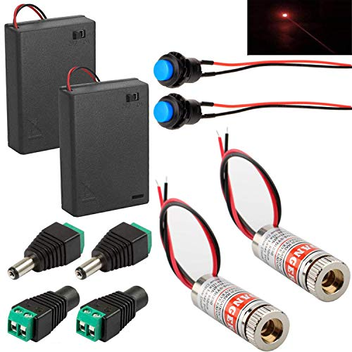 RUNCCI-YUN 2PCS 650nm 5mW 3-5V diodo de módulo de...