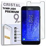 REY Protector de Pantalla para Samsung Galaxy J7 2018, Cristal Vidrio Templado Premium
