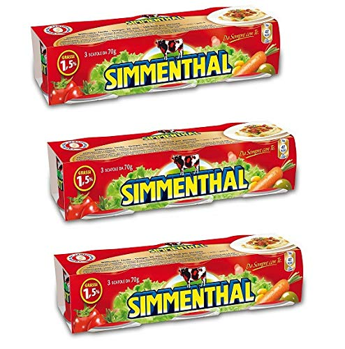 3X Simmenthal Meat in Jelly 3x90g 100% Italian Meat Jellied Beef Ready to eat!