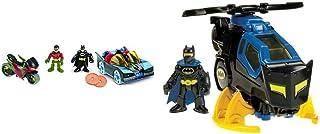 Fisher-Price Imaginext DC Super Friends, Batmobile & Cycle, ¿Cuál es la forma más genial para que los niños crucen por la ciudad de Gotham e Imaginext DC Super Friends, Batcopter [Exclusivo de Amazon]