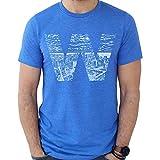 Hand-Drawn W Skyline T-Shirt (XL) Blue