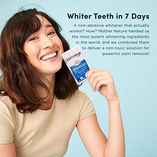 Lumineux Oral Essentials Teeth Whitening Strips - 21 Treatments - Dentist Formulated and Certified Non Toxic - Sensitivity Free - Whiter Teeth in 7 Days - NO Artificial Flavors, Colors, and SLS Free