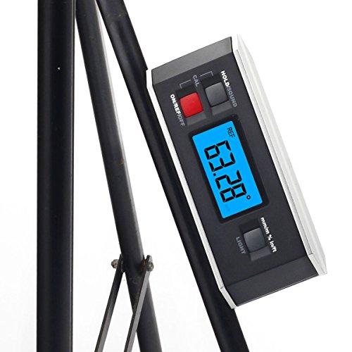 inclinomètre, Risepro® Digital Rapporteur Angle Finder Niveau inclinomètre magnétique rainure en V 0 ~ 360 degrés avec rétroéclairage 82413b