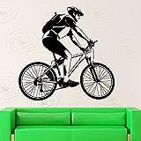 Tour de Francia Bicicleta Deporte Carrera Casco Jugador BMX Bicicleta de montaña Viaje en bicicleta al aire libre Vinilo Etiqueta de la pared Calcomanía Dormitorio Sala de estar Club Decoración d