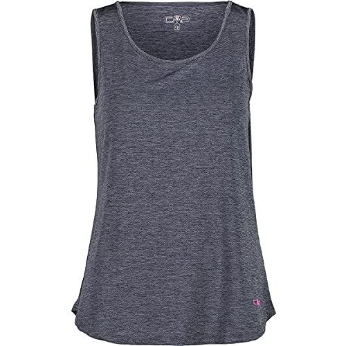 CMP Camiseta de tirantes elástica para mujer con tratamiento antibacteriano, 30T7246_U423_42, antracita, 36