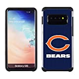 Samsung Galaxy S10 - NFL Licensed Chicago Bears Blue Textured Back Cover on Black TPU Skin