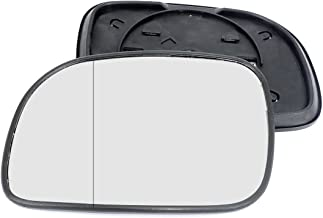 Clip On Passenger left hand side wing door Silver mirror glass with backing plate #C-SN//L-CRVR95