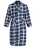 Latuza Men's Cotton Flannel Robe XL Blue