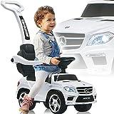 Mercedes Benz SUV AMG Rutschauto mit Schubstange Licht und Musik (offiziell lizenziert) Kinder...