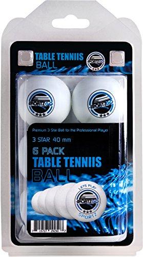 Find Discount SportzGo Table Tennis Ping Pong Balls - 3 Star Advanced Training Regulation Size Balls...