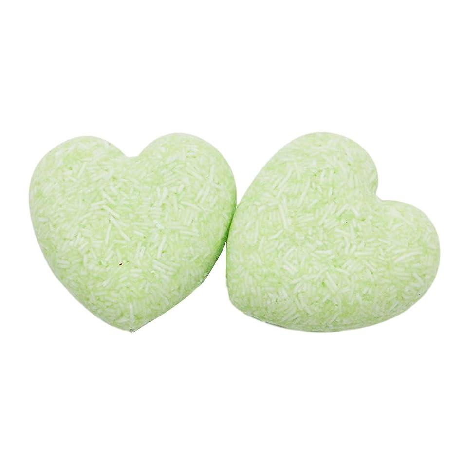 不適脅かす回転させるLurrose 2ピースヘアシャンプーバー石鹸栄養オイルコントロール育毛石鹸