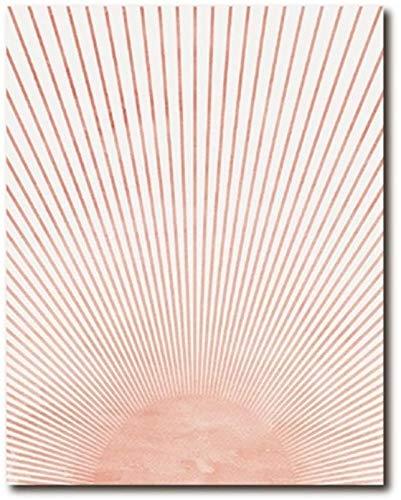 Surfilter Print auf Leinwand Mid Century Modern Wall Art Leinwanddruck Bild Abstract Sun Painting Minimalist Poster Home Decor 15.7& rdquo; x 23.6& rdquo; (40x60cm) No Frame