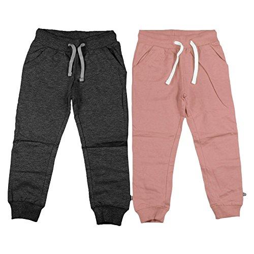 Minymo 2-pack baby meisjes joggingbroek, leeftijd 18-24 maanden, maat: 92, kleur: roze en donkergrijs, 3937