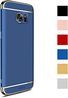 CROSYMX Galaxy S7 Case Back Cover, Ultra Slim & Rugged Fit Shock Drop Proof Impact Resist Hard Protect Case for Samsung Galaxy S7 (5.1'')(2016) - Blue