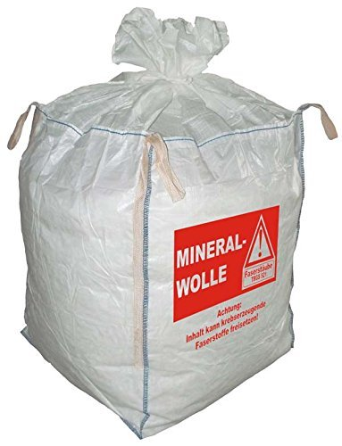 5 Big Bag, FIBC, Mineralwolle, MIWO, Entsorgungssack, 90x90x110cm SWL 150Kg (5,86€ / Stück)