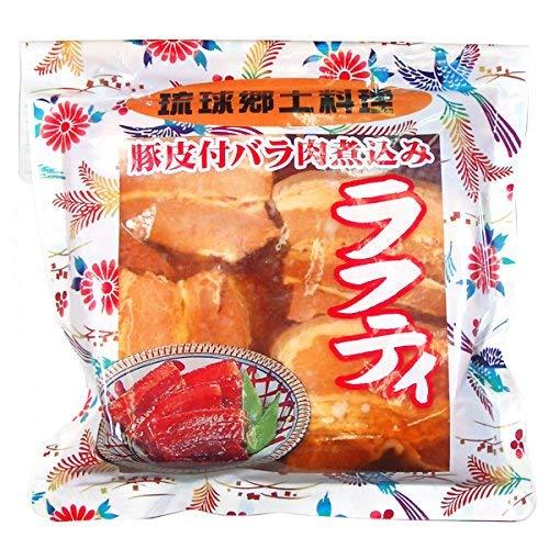 琉球郷土料理 ラフティ SP 豚皮付バラ煮込み 350g×12袋 あさひ 沖縄の県民食 泡盛と醤油でじっくり煮込んだ豚バラ肉 沖縄土産にもおすすめの沖縄風煮込み