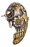 Forum Novelties 81343 Steampunk Half Face Mask, Women, Gold/Silver