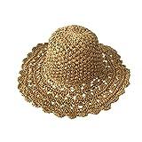 TREESTAR verano simple hecho a mano de ganchillo sombrero de