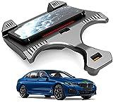 Cargador inalámbrico automóvil,Qi 15W MAX Base carga inalámbrica para vehículos para BMW 5 Series 2018-2021 Accesorio para todos los modelos,con puertos USB de 18W Placa carga inalámbrica automóvil