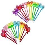 JZK 24 Neuheit Lollipop Stifte kugelschreiber Kuli Set Spielzeug Geschenk Mitgebsel Gastgeschenk für Mädchen Geburtstag Kinder Party