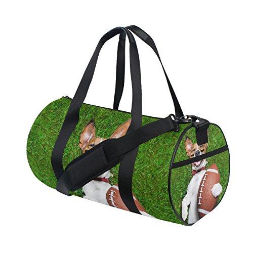 TIZORAX American Football Hund Fitnessraum Duffle Bag Drum Tote Reisetasche Rooftop Rack Tasche