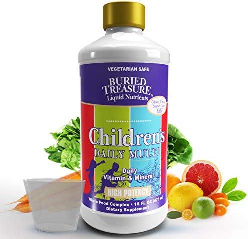 Buried Treasure Children s Daily Multi Liquid Multivitamin Minerals Nutritional Dietary Vegan product image