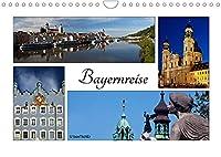 Bayernreise (Wandkalender 2022 DIN A4 quer): Bayern - Der Freistaat hat viele Facetten (Monatskalender, 14 Seiten )