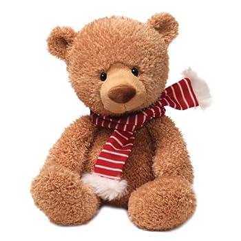 GUND Fun Christmas Noggin Tan Bear 13  Plush