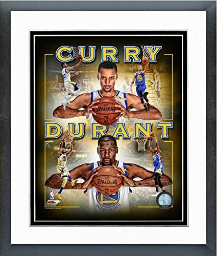 NBA Kevin Durant Stephen Curry Golden State Warriors - Foto, 31,75 x 39,37 cm, enmarcada