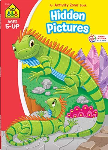 School Zone - Hidden Pictures Workbook - 64 Pages, Ages 5+, Kindergarten, 1st Grade, Hidden Objects, Hidden Picture Puzzles, Word Pictures, and More (School Zone Activity Zone® Workbook Series)