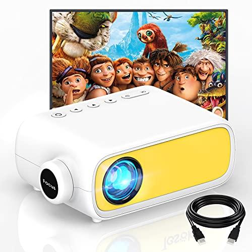 Mini Beamer,GETITOP Mini Projector Portable,Led Beamer Geschenke für Kinder,LED Handy Video-Beamer Full HD für Heimkino,für Draußen,Film Projektor mit HDMI USB TV AV-Schnittstellen und Fernbedienung
