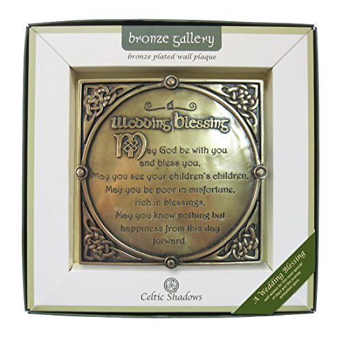 Royal Tara Bronze Plated Wall Plaque With A Wedding Blessing