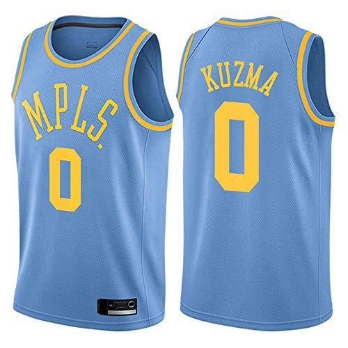 WSUN Lakers NBA # 0 Kyle Kuzma Camiseta De Baloncesto NBA para Hombre Camiseta Sin Mangas Unisex Camiseta Bordada De Malla De Baloncesto Swingman Jersey,A,S(165~170CM/50~65KG)