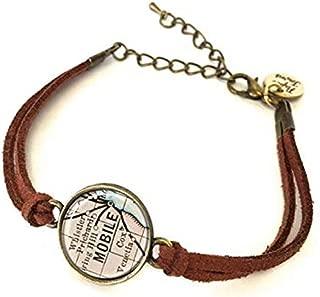 Alabama state map jewelry Alabama Bracelets,AO195/ Charming Bracelet,Alabama map Bracelets Alabama map Bracelet Alabama Bracelet