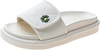 B/H Été Anti-Dérapage Pantoufle,Pantoufles antidérapantes à Semelles épaisses et Chaussures à Pain Velcro-Beige_35,Tongs M...