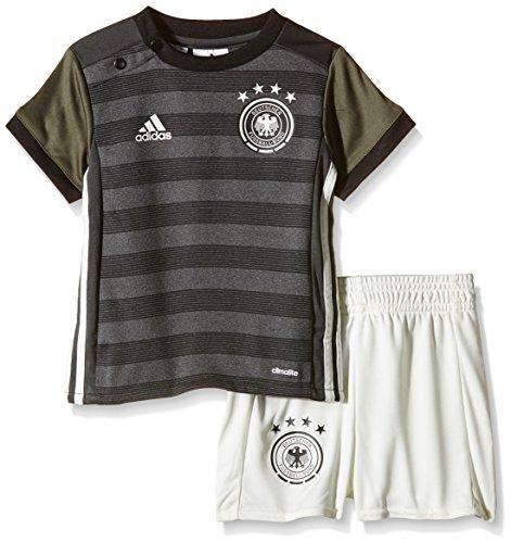 adidas Baby Trikot Set DFB Auswärts, Dark Grey Heather/Off White/Base Green S15/Black, 68