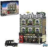 Town House Lion Pub Model Building Blocks, 5910 Bloques de construcción de abrazaderas, modelo de arquitectura de casa con figuras, modelos de casas, compatible con Lego Creator Expert (89107) (89107)