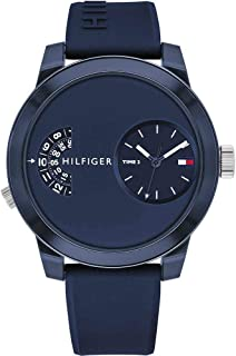 1791556 Tommy Hilfiger Dual Time Mens Analog Blue Casual Quartz Tommy Hilfiger