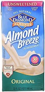 Blue Diamond Almond Breeze - Unsweetened Original - 32 oz (2 Pack)
