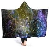 HATESAH Manta con Capucha,Resplandor Reflejo Vista Nebulosa Formación Estelar Naturaleza Resumen,Suave Siesta ponible Mantas de Viaje/Vacaciones/Casual 60x50