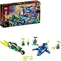 LEGO NINJAGO, Les bolides de Jay et Lloyd avec avion speeder et vélo speeder, Véhicules de Course Prime Empire, 118...
