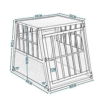 EUGAD Cage Aluminium de Chien Cage de tansport avec 1 Porte,Blanc 0048HT