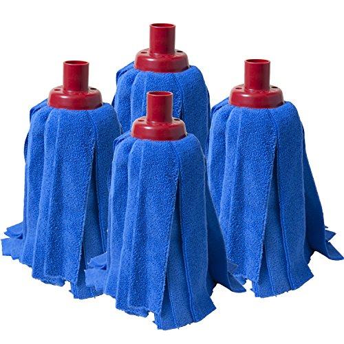 Fregola Pack di Panni, Tessuto in Microfibra, Blu, 35x 28x 8cm, 4Pezzi