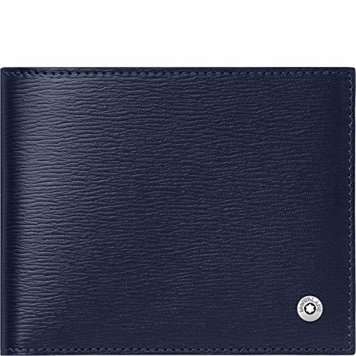 Material: Piel de vacuno azul Tamaño: 11x 9cm Características: 6tarjetas de crédito, 2compartimentos de dinero y 2extra Con clip de dinero