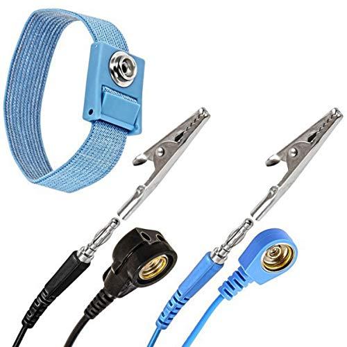 Minadax® Anti Statik Erdungs Band Handgelenk Manschette Strap verstellbar mit 1,70m Verlaengerung